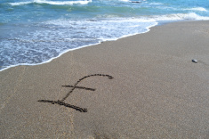 pound on the beach